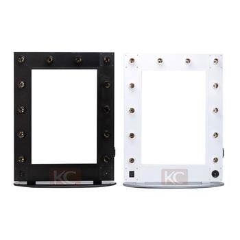 compact blanc coiffeur vanite miroir de salon station avec la lumiere coiffeuse miroir eclaire