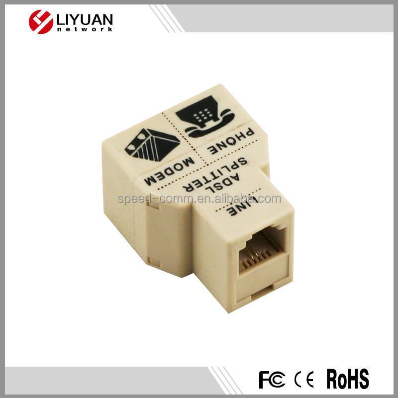 Modular Triplex Adapter Rj11 Rj45