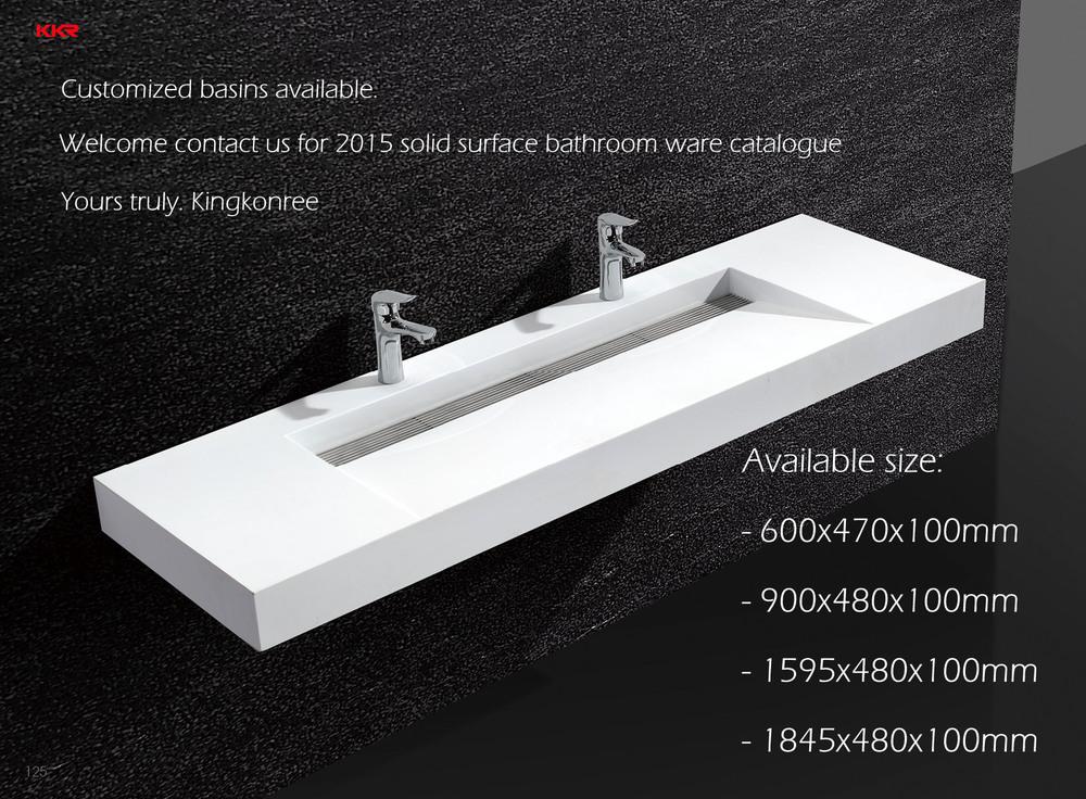 wall hung basin 60 inch white coraining