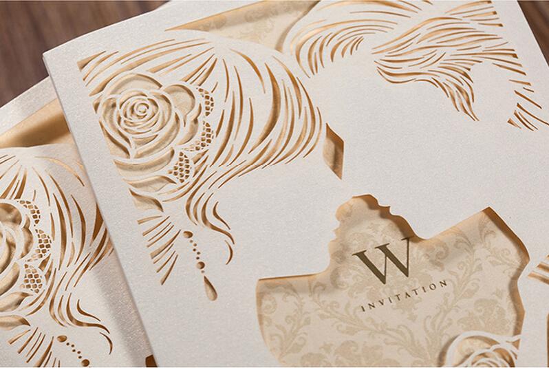 Transpa Embossed Wedding Cards