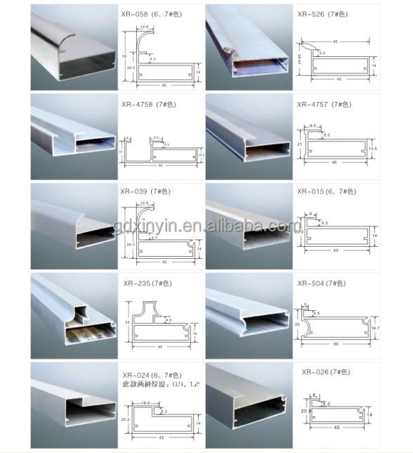 Kitchen Cabinet Aluminum Frame Glass Door Profile In High