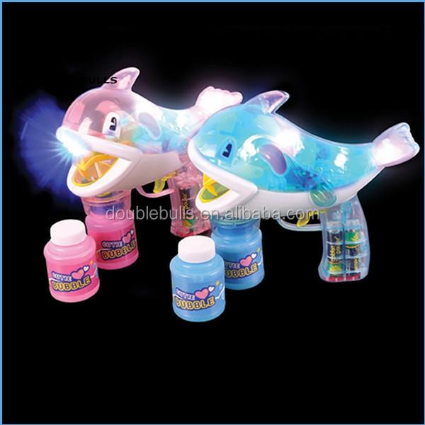Led Bubble Gun Dolphin Fish Assorted Colors Gun Soap