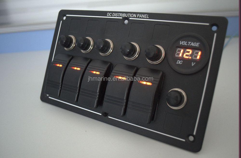Boats Switch Panel 12 Volt Rocker Switch Panel 5 Switch