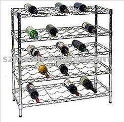 rayonnage a vin en metal transparent etagere pour bouteilles de vin buy produits d etagere de fil de chrome etagere de fil couche d etagere de fil