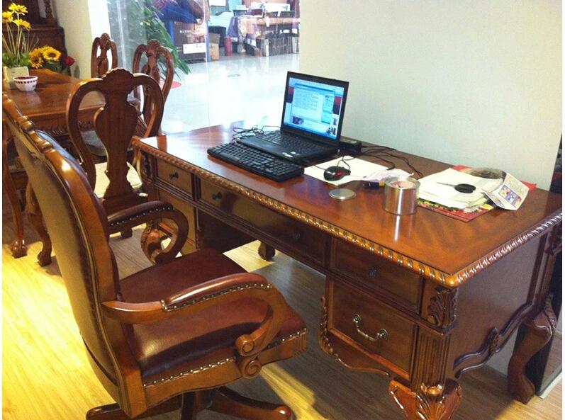 vintage en bois massif bureau bureau d ordinateur assembler pour mobilier de bureau ag