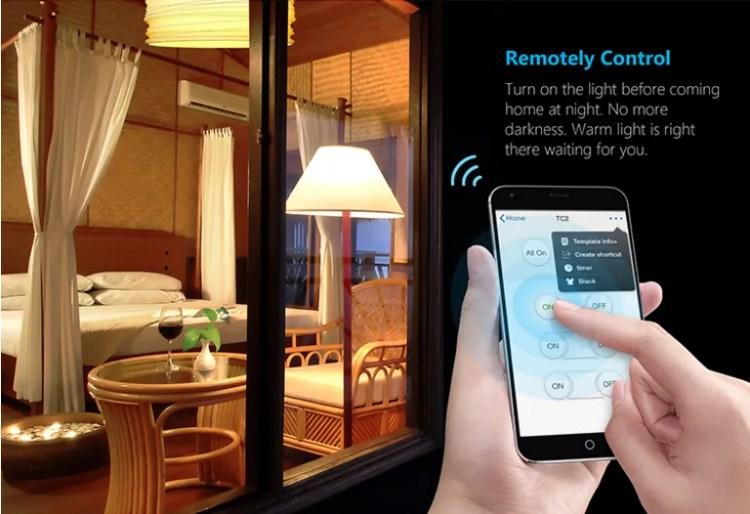 BroadLink TC2 EU standard 2 gang 2 way Smart Switch electrical wifi wireless light wall switch prices with glass touch screen