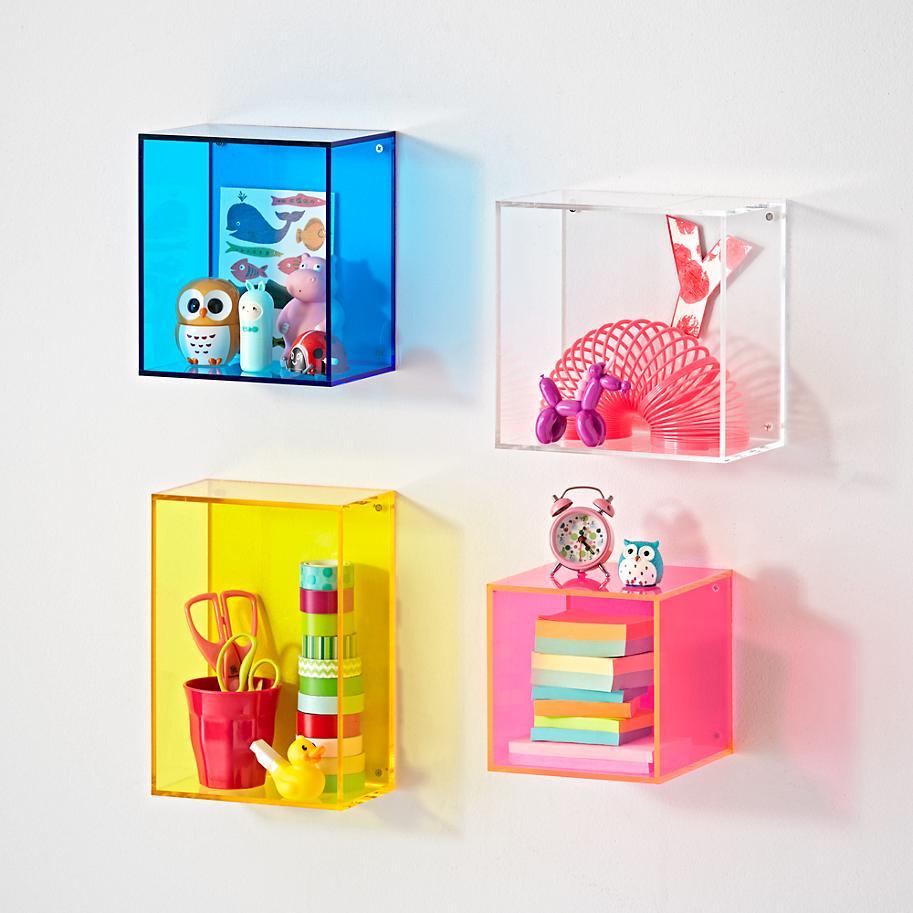 etagere murale en cube plastique acrylique personnalisee multicolore a montage mural bibliotheque murale buy etagere murale cube en plastique