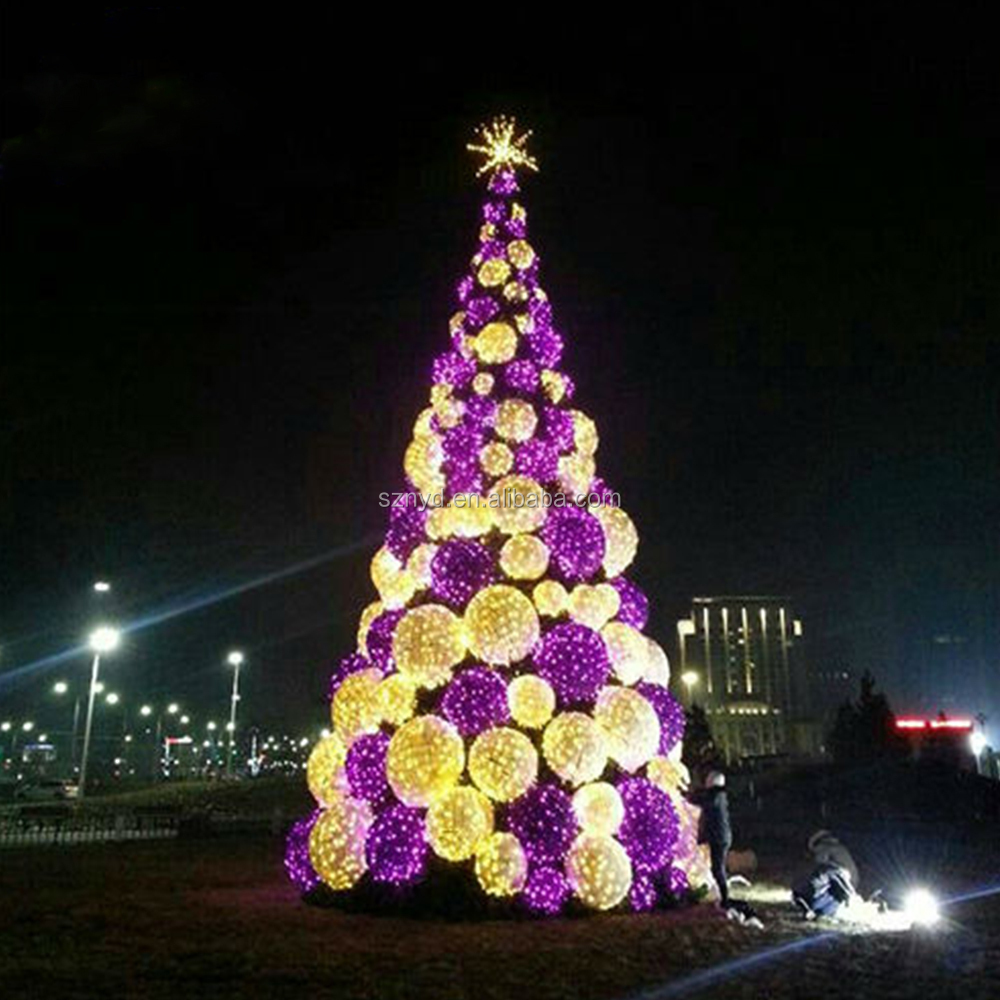 Outdoor Led Christmas Tree Artificial Wedding Tree For