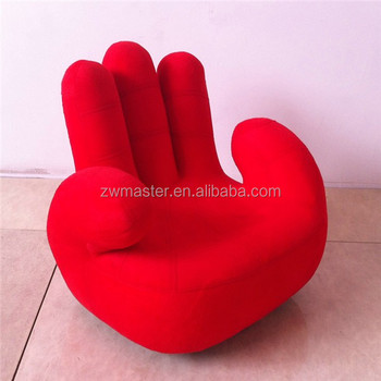 Modern Design Double Bent Fingers Living Room Finger Sofa Chair Fabric Pu