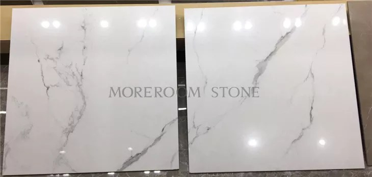 polished 24x24 white porcelain tile calacatta white porcelain floor tile view 24x24 white porcelain tile moreroom stone product details from foshan