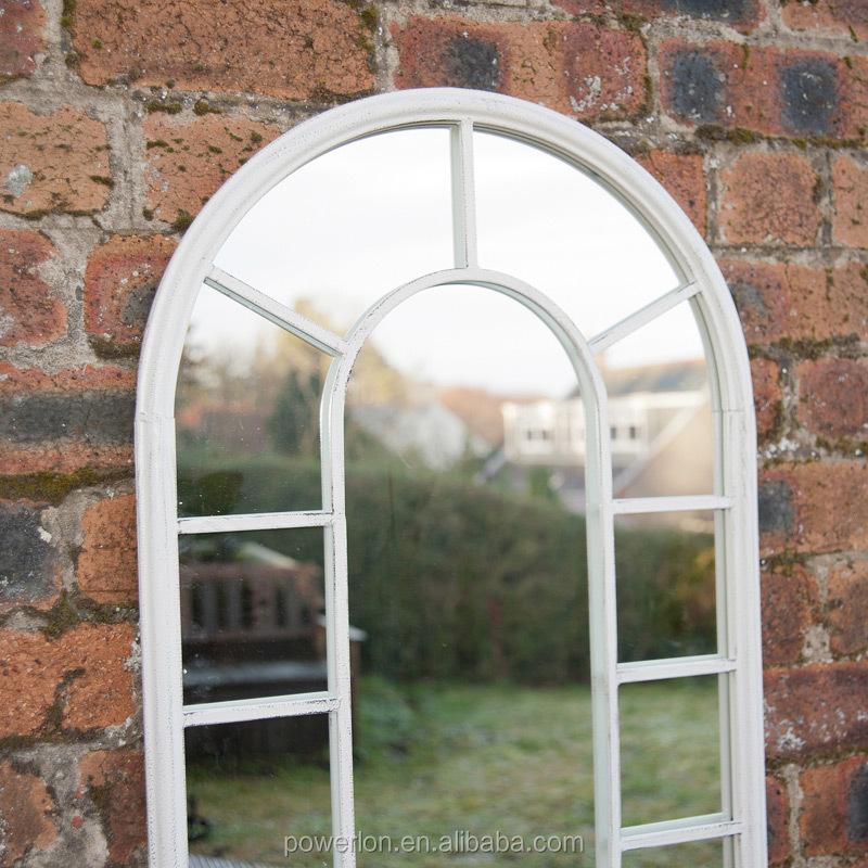 Small Gothic Resin Stone Garden Mirror Mirrors Outdoor