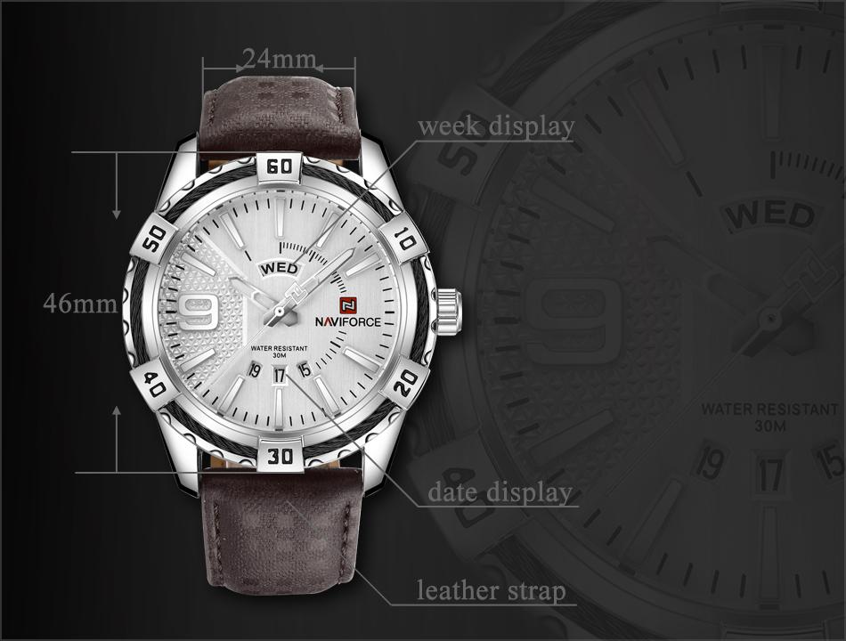 HTB1FjPrgnTI8KJjSsphq6AFppXad NAVIFORCE Top Luxury Brand Men Quartz Watch Army Military Sport Business Watches Week Analog Display Male Clock Waterproof Hour