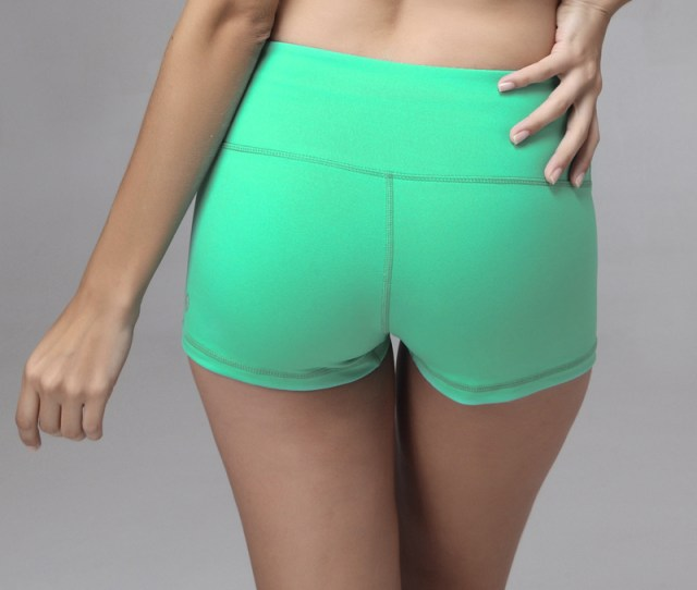Women Sexy Design Nylon And Lycra Spandex Breathable Great Stretch Popular Sports Shorts