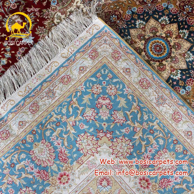 6 x 9 noue a la main pas cher prix turquie type medaillon bleu de soie tapis persan buy tapis noue a la main tapis de dinde tapis persan product