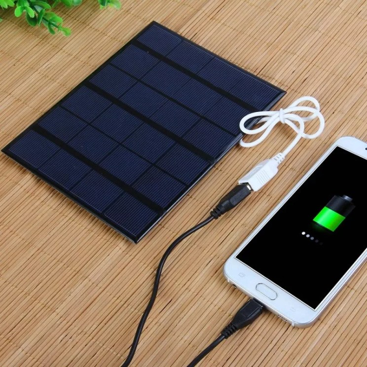 BUHESHUI 3.5W Solar Charger Polycrystalline Solar Cell Solar Panel USB Solar Mobile Charger For Power Bank