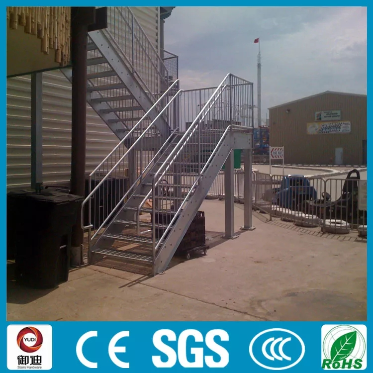 Prefabricated Exterior Used Metal Straight Stair With Anti Slip | Prefabricated Exterior Metal Stairs | Stair Case | Spiral Staircases | Stairways | Stair Systems | Wrought Iron