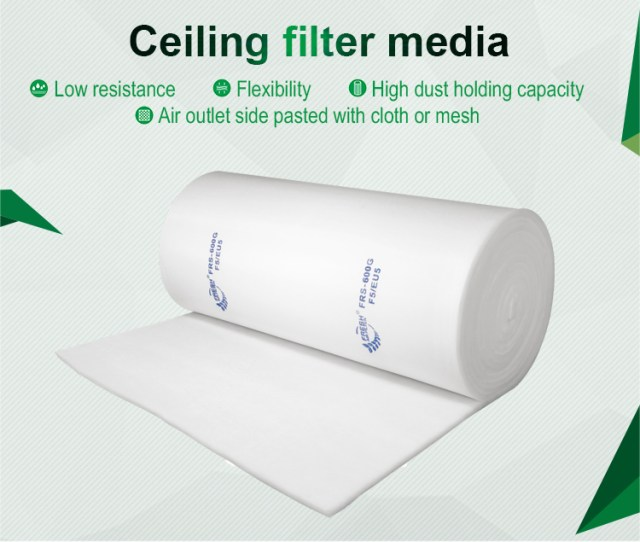 Frs Eu5 Ceiling Filter In 22mm Thick Paint Spray Booth Filter Pre Filter Material