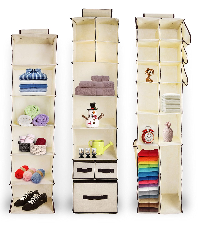 Buy Hanging Closet Organizer Set Includes Hanging 4 Shelf