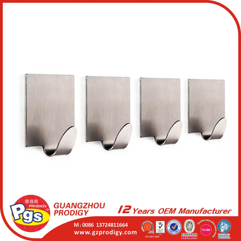 Stainless Steel Adhesive Metal Wall Hook Buy Metal Wall