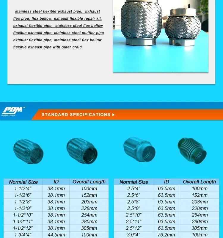 bellow exhaust flex pipe buy flexible exhaust pipe exhaust braided flex pipe 2 exhaust flex pipe product on alibaba com