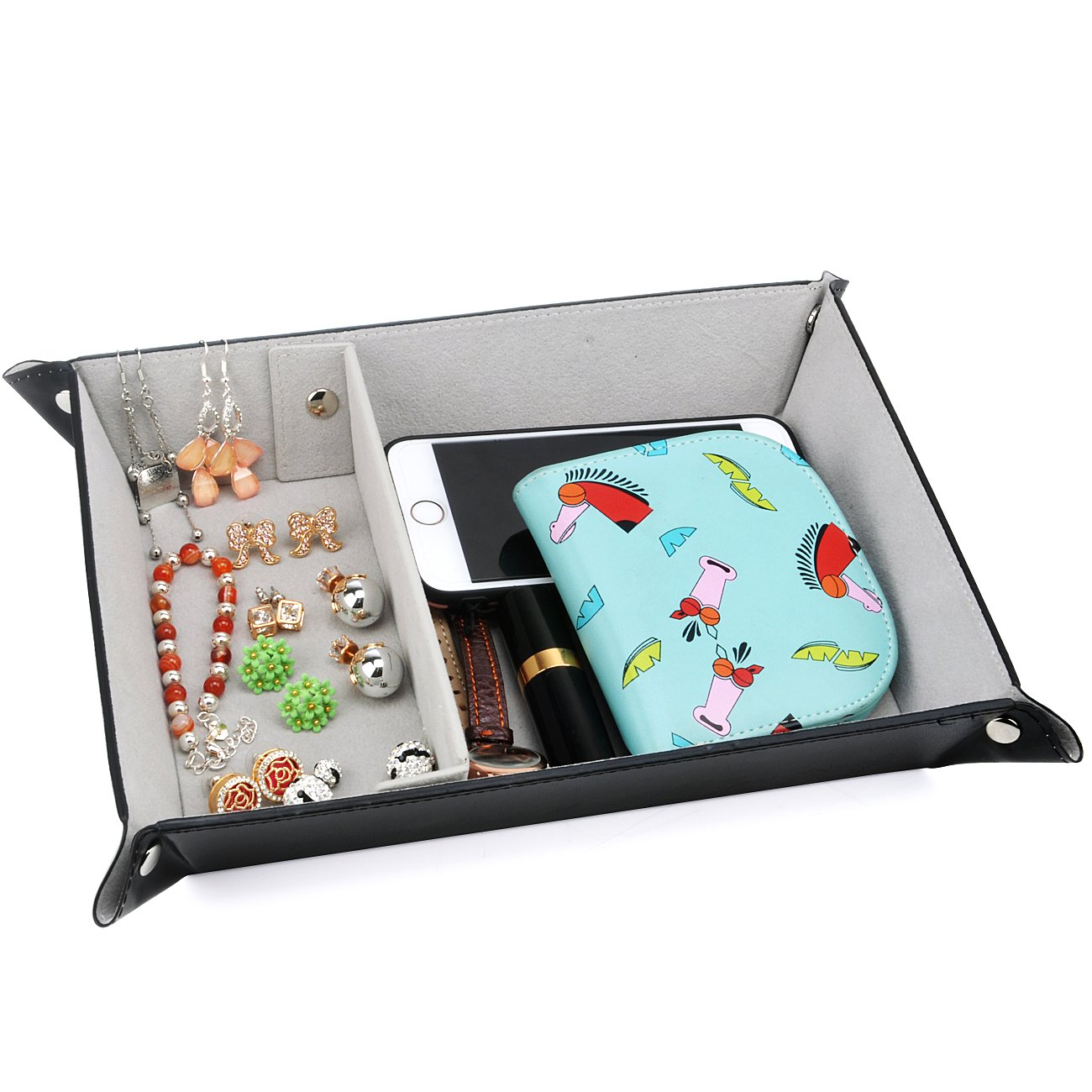 Buy Spsheng Valet Tray For Storage Pu Leather Jewelry