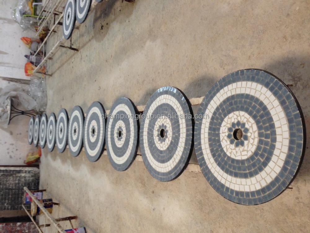 pas cher jardin table de mosaique carreaux de ceramique mosaique table ronde buy table basse en ceramique plateau rond en mosaique plateau de table