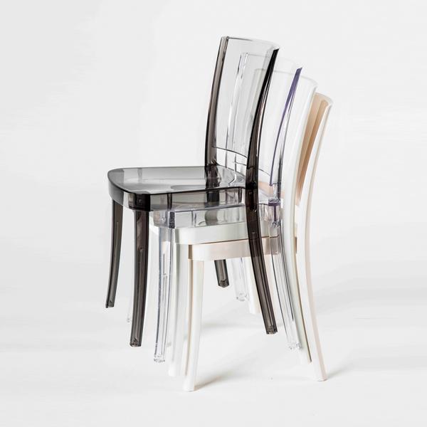 chaise transparente en polycarbonate lucienne neutre
