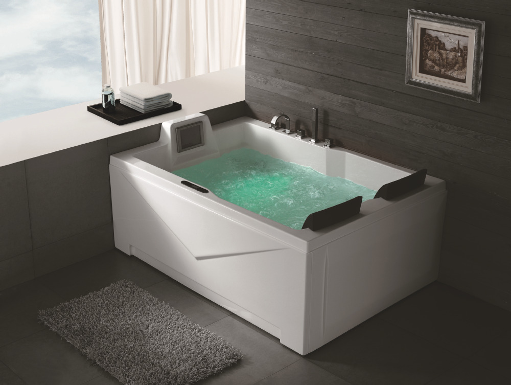 Hs Bc667 2 Person Jetted Double Whirlpool Bathtubs With Tv