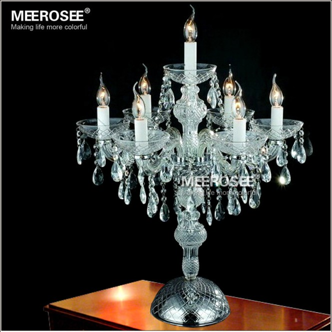 Whole Crystal Table Top Chandelier Candelabra Wedding Decoration Centerpieces Mt2630