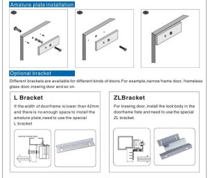 Zltype Magic Lock Bracket For Inward Door  Buy Zl Magic Lock Bracket,Bracket For Inward