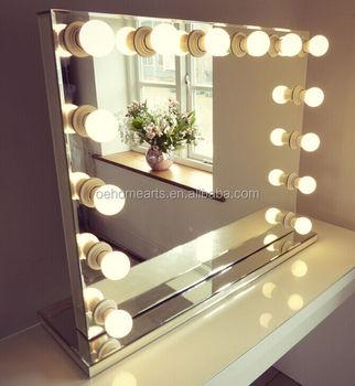 hollywood eclaire miroir de vanite de maquillage blanc led ampoules