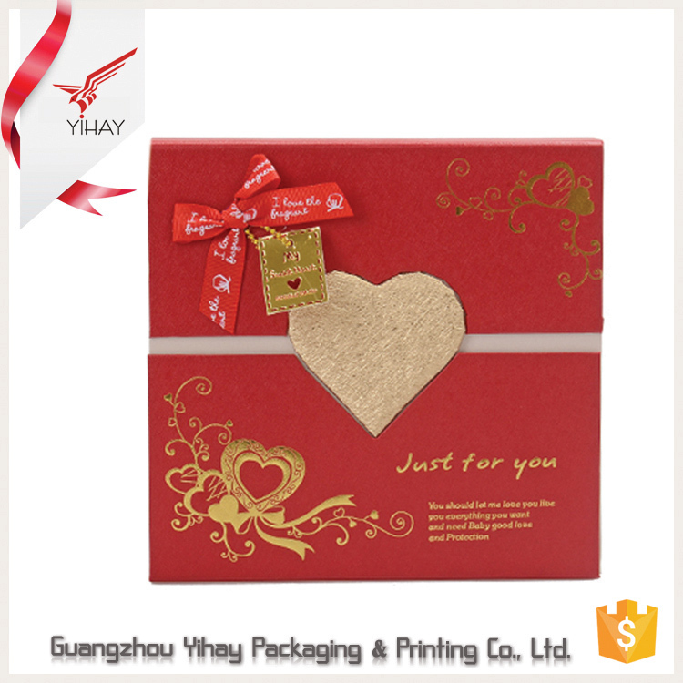 2017 New S Cardboard Paper Packaging Fancy Empty Chocolate Box Gift For Wedding