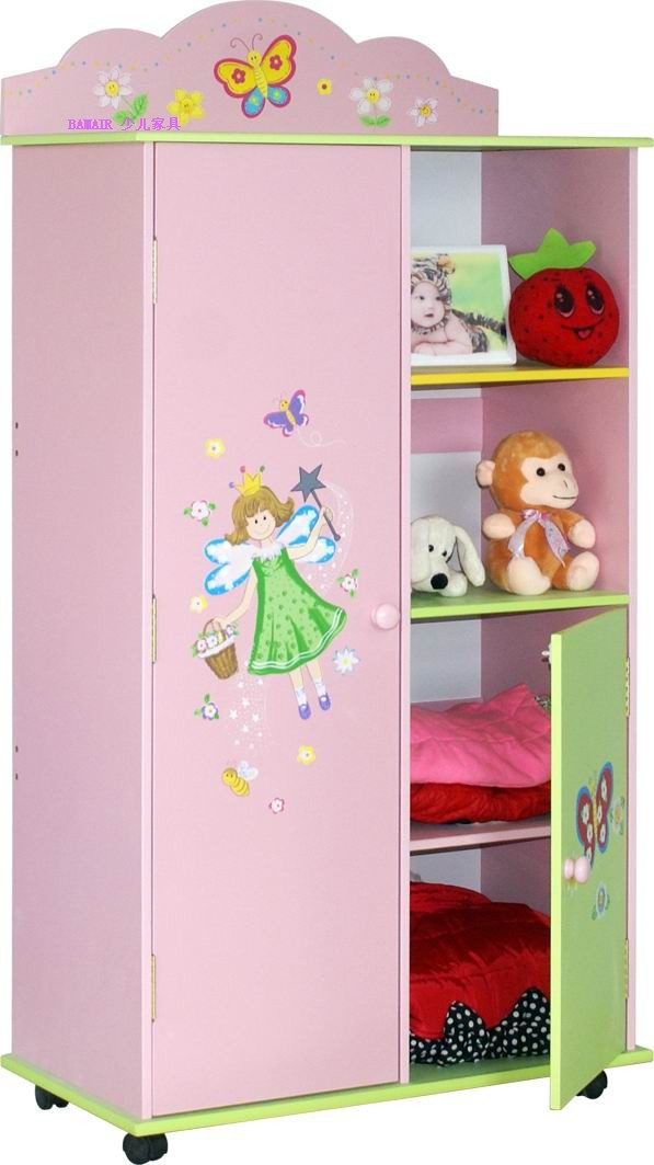 Low Price With Finest Quality Hand Painted Fairy Wood Kids Wardrobe Kids Bedroom Furniture Buy