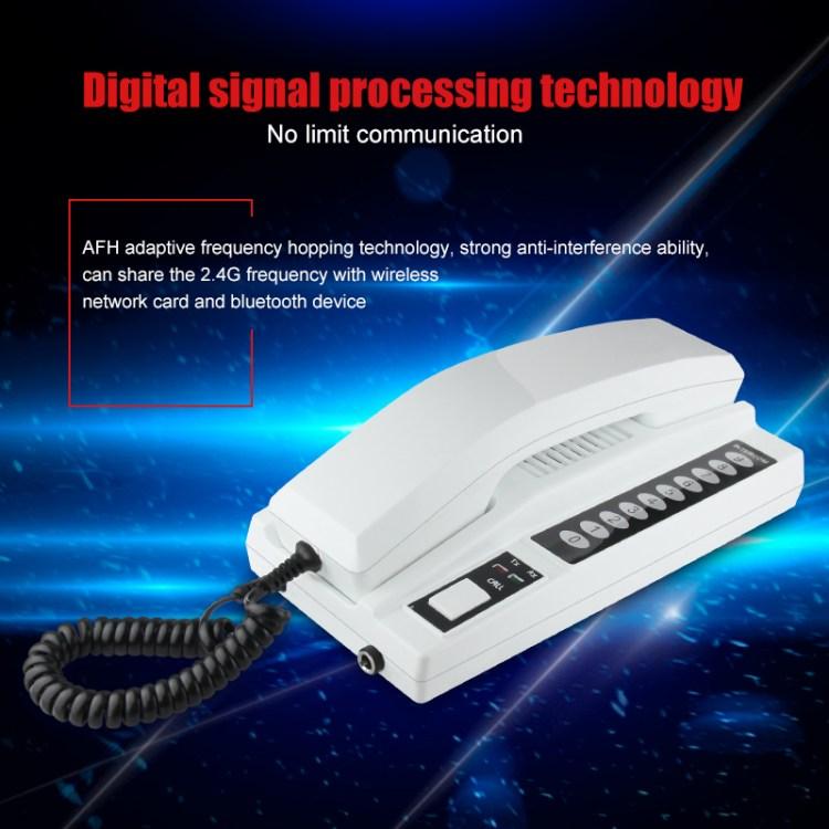 2.4Ghz handset 2 way audio door phone wireless multi apartment audio intercom system