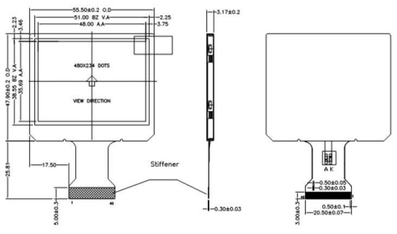 2 5 Inch 480x234 Digital Small Pc Monitor Lcd Display