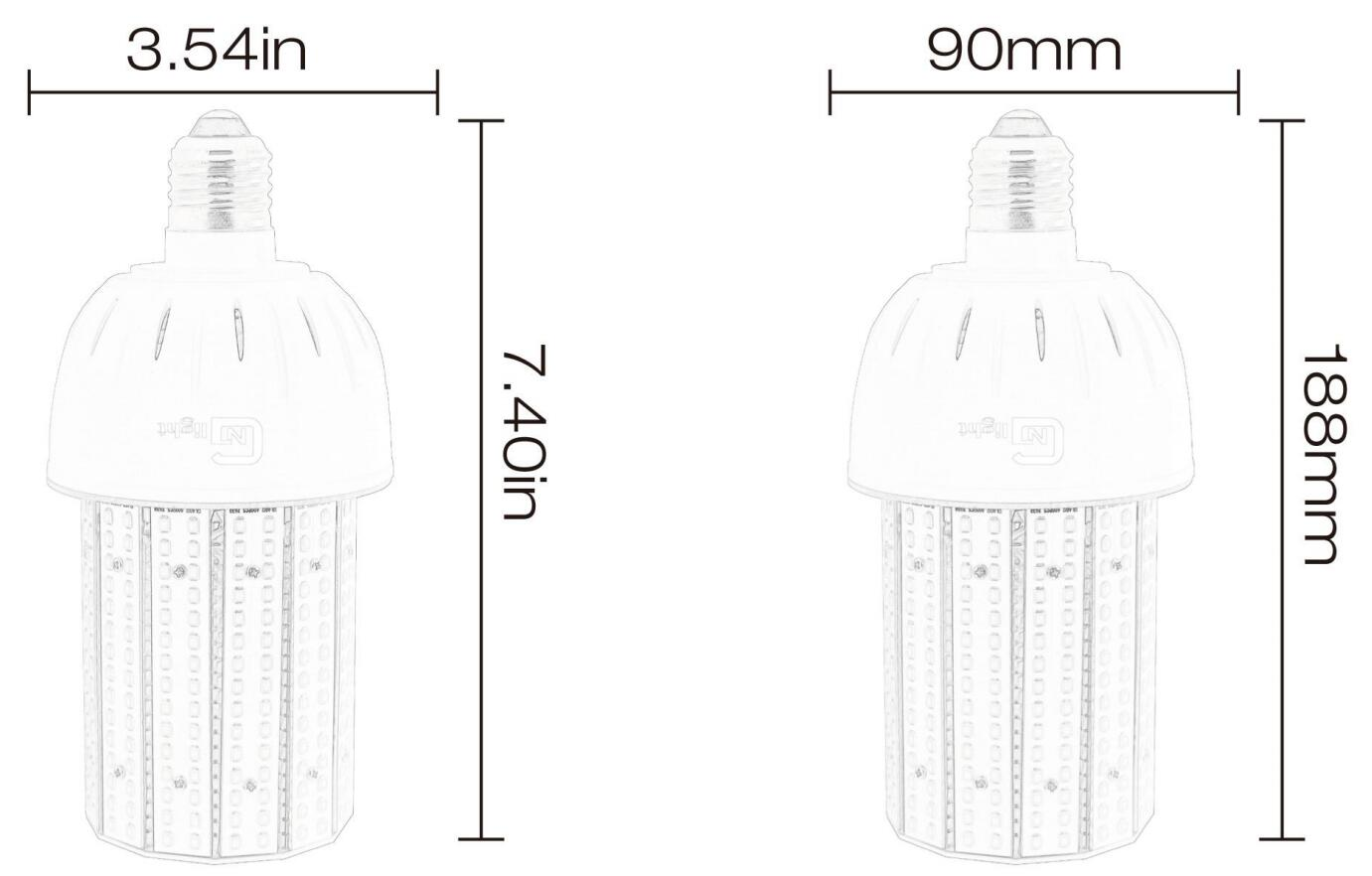 40w Led Corn Light Bulb For Indoor Outdoor Large Area E26