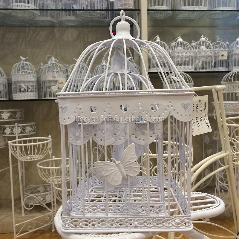Wholesale Decorative White Wedding Bird Cage Metal Bird