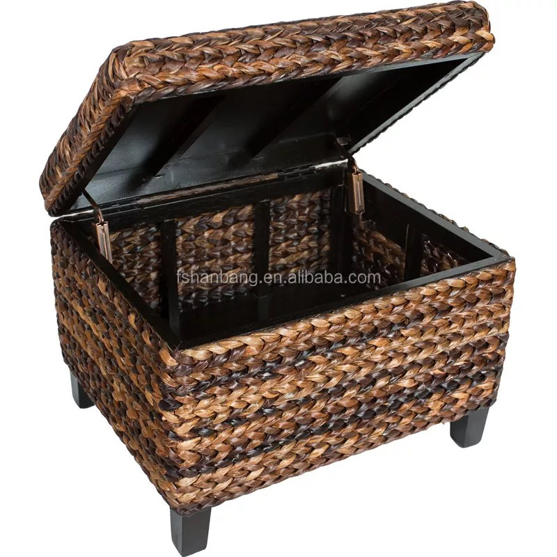 natural rattan seagrass water hyacinth wicker storage trunk coffee table view wicker trunk coffee table love rattan product details from foshan