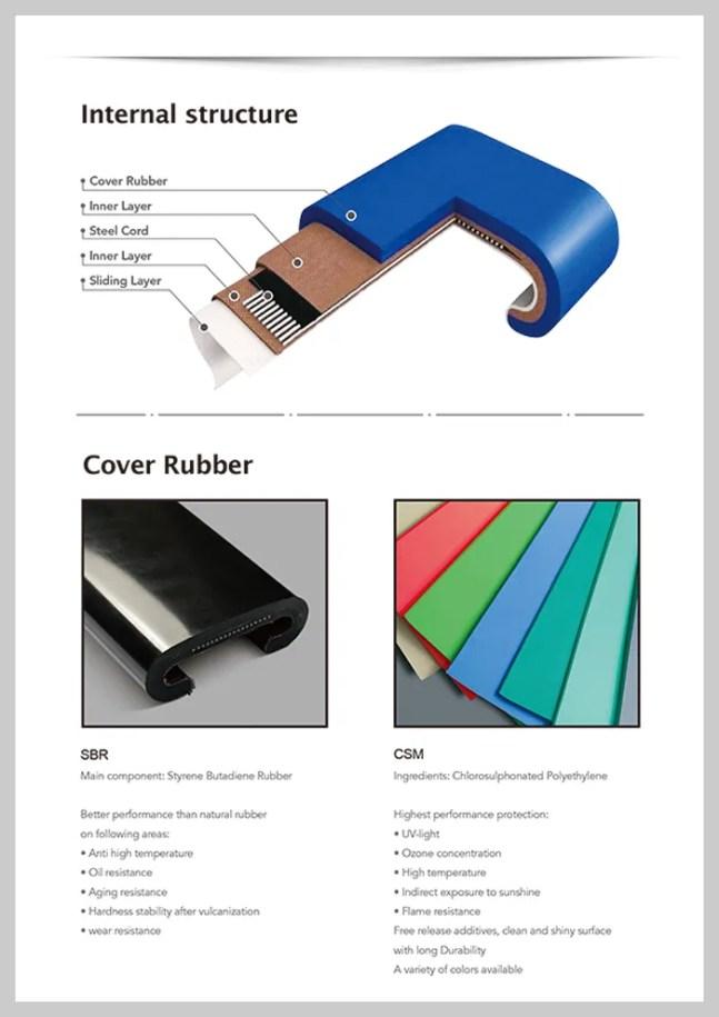 CNHR-003 800 Rubber Escalator Handrail Belt Escalator Handrail