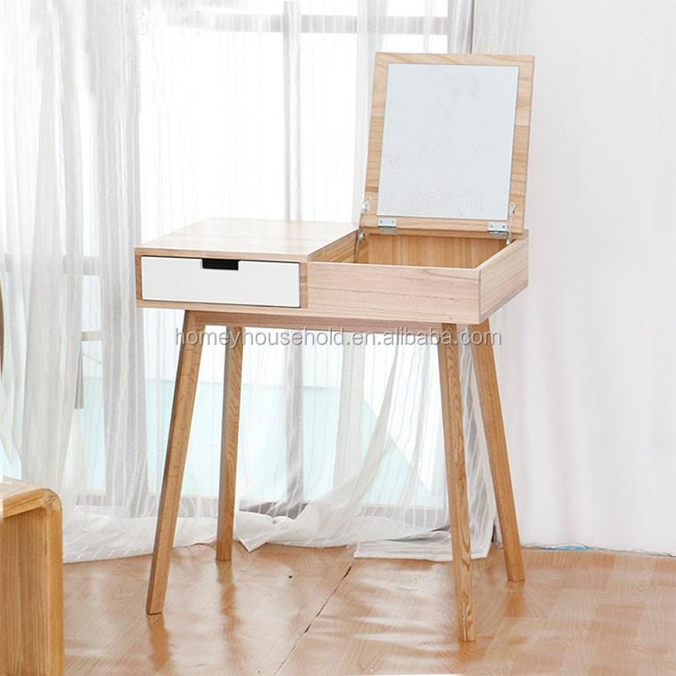 Scandinavian Wooden Makeup Vanity Dresser Furniture Modern