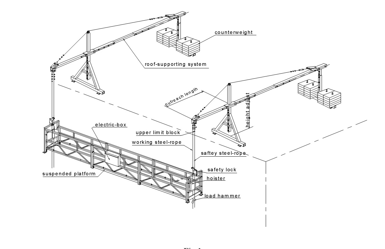 Loading Capacity 630kg Suspended Platform For Sale