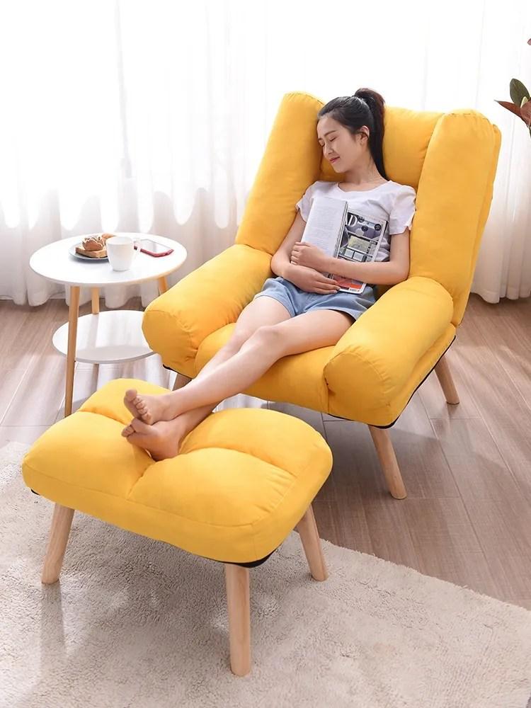 fauteuil repose pieds en lin jaune massif repose pied siege repose pieds canape de salon paresseux buy fauteuil avec repose pieds fauteuils