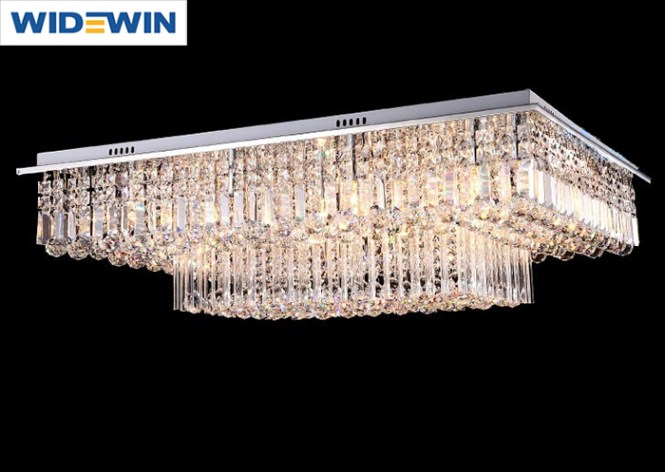 Crystal Flat Chandelier Light Square For Size Lighting Ideas