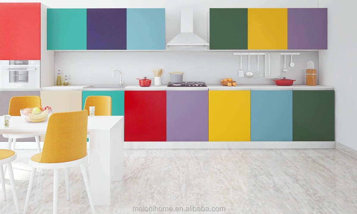 Colorful Kitchen Design With Pvc Mdf Commercial Used Kitchen Cabinet Buy Pvc Mdf Kitchen Cabinet Colorful Kitchen Design Pvc Mdf Board Sheet Kitchen