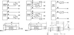 CALT Metal Cylinderical Capacitive 12v dc proximity sensor M8, View 12v dc proximity sensor