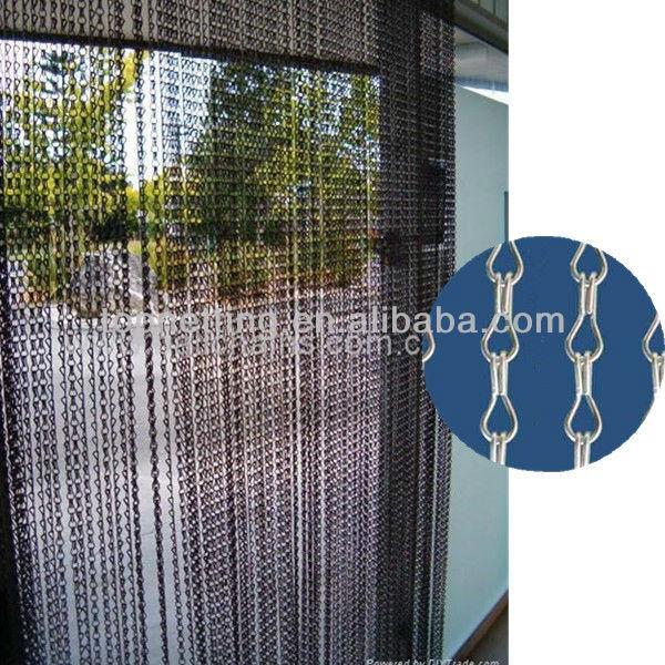 metal chian link curtain auminum fly screen door curtain buy hanging door screen curtain chain link door curtains decorative fly screen door