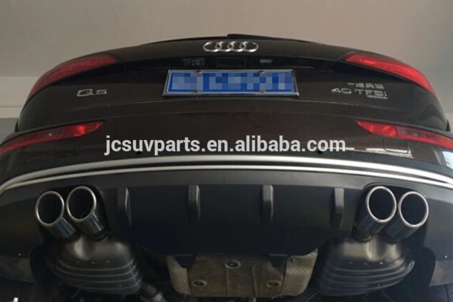 q5 to sq5 pp exhaust tips with rear bumper diffuser for audi q5 2013 buy exhaust tip q5 rear bumper diffuser q5 sq5 pp exhaust tip rear diffuser for