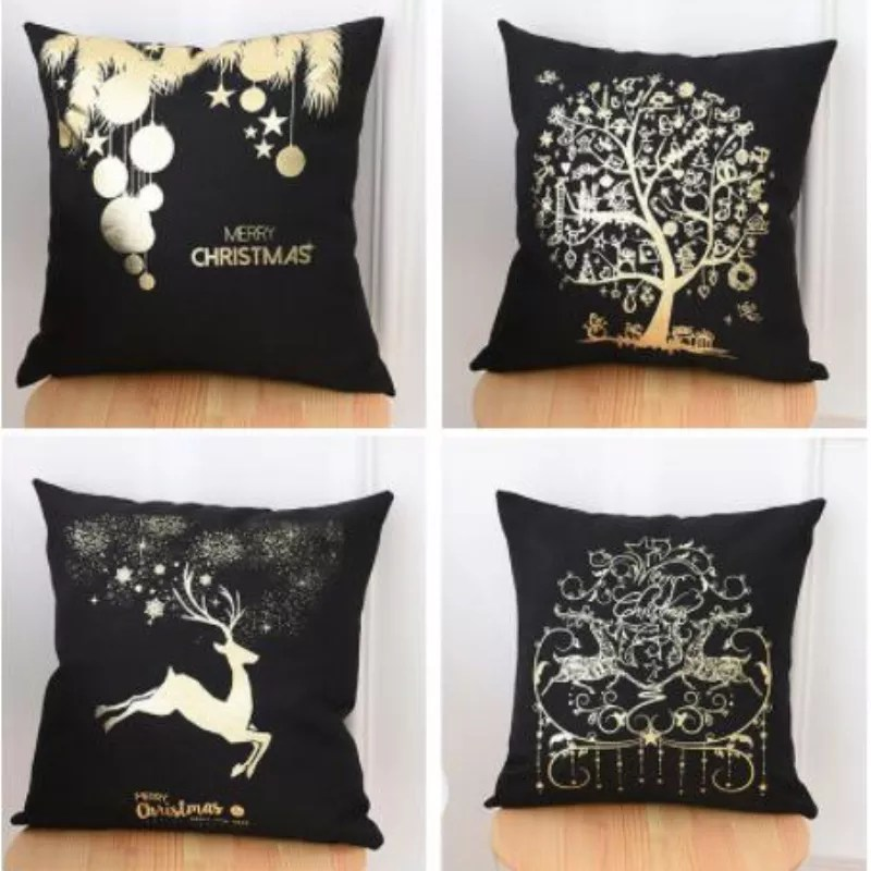 merry christmas custom printing cushion covers silver foil cushion cover gold printed pillow gold cushion cover buy gold cushion cover gold bronzing