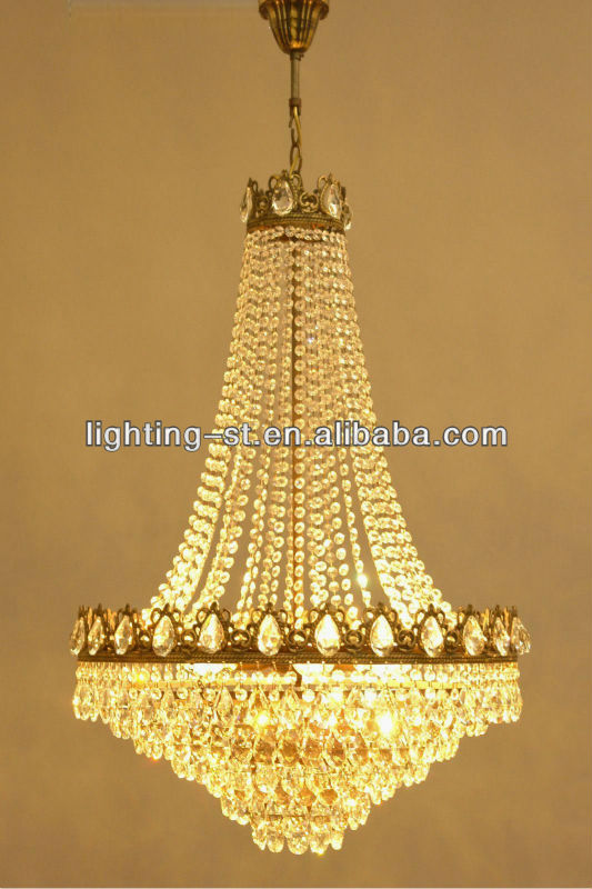 Antique French Style Crystal Chandelier Classic Large Lighting Huge Re Lamp St05241