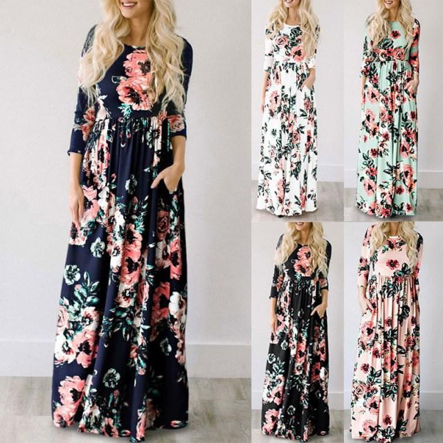 Floral Boho Maxi Dress